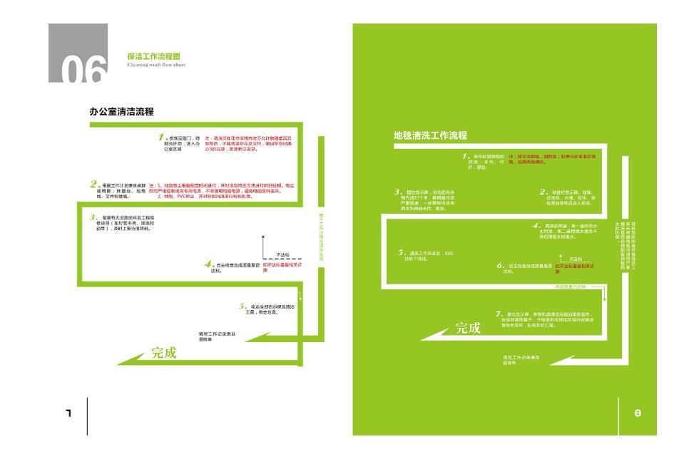 清洁服务行业画册设计案例欣赏