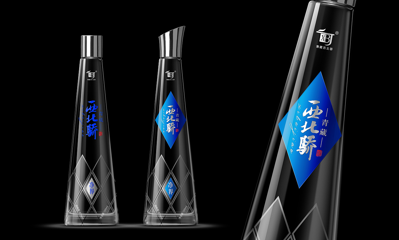 广州天河金之海青稞白酒包装设计案例欣赏图