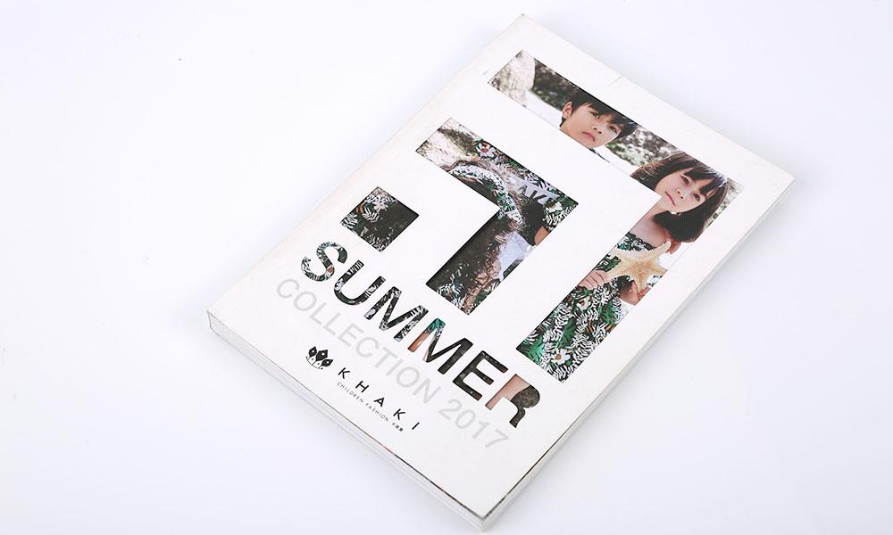 夏天服装画册设计-夏季服装画册设计-夏季儿童服装宣传册设计